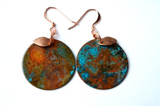 I love the reds that came out in these copper earrings